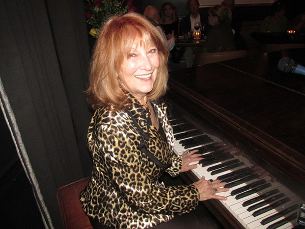 Charlotte Vaughn's last night as Folk's Folly pianist after 30 years. - MICHAEL DONAHUE
