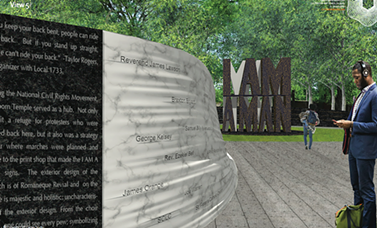 'I Am A Man' commemorative plaza rendering