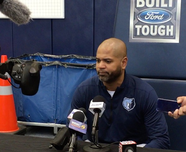 J.B. Bickerstaff at Grizzlies exit interviews - SAMUEL X. CICCI