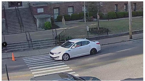 A neighborhood watch camera image shows Smith in his car in Cooper-Young. - MEMPHIS POLICE DEPARTMENT
