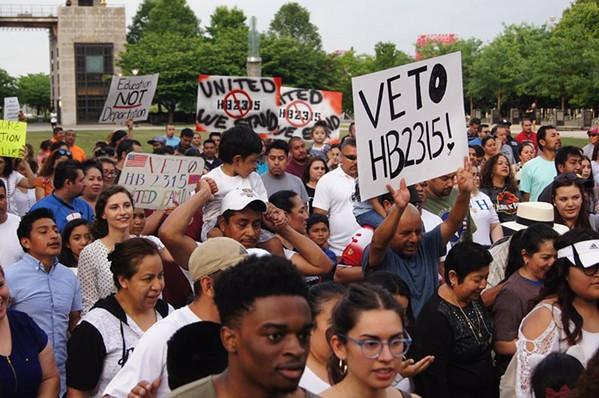 Recent rally against the bill in Nashville - FACEBOOK- TIRRC