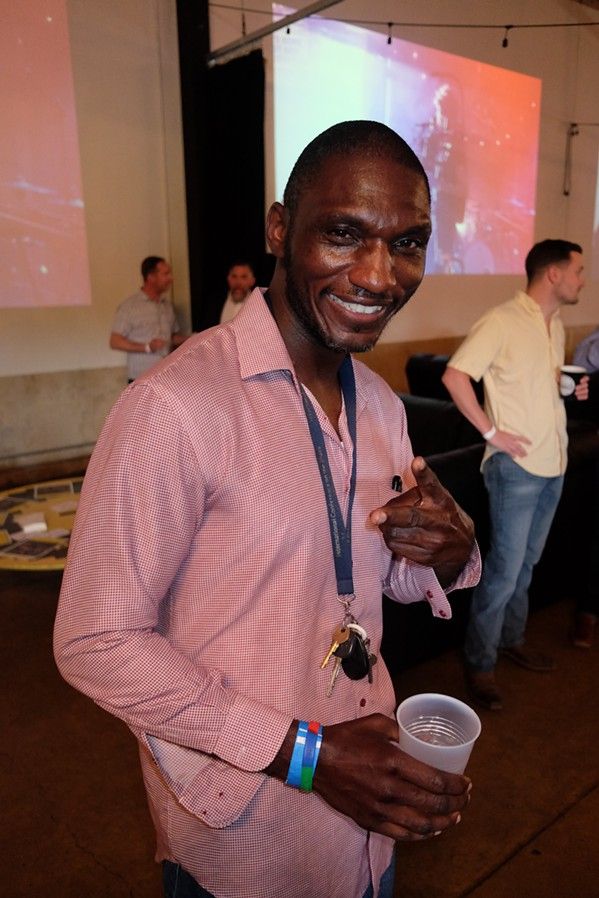 """Cedric Burnside at """"I Listen to Memphis"""" launch party. - MICHAEL DONAHUE"""