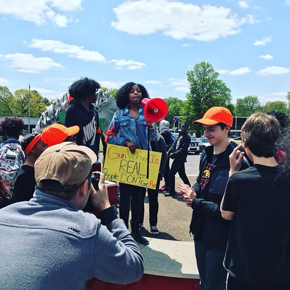 Students across Shelby County walked out earlier this year to protest gun violence in schools. - SHELBY COUNTY SCHOOLS/FACEBOOK