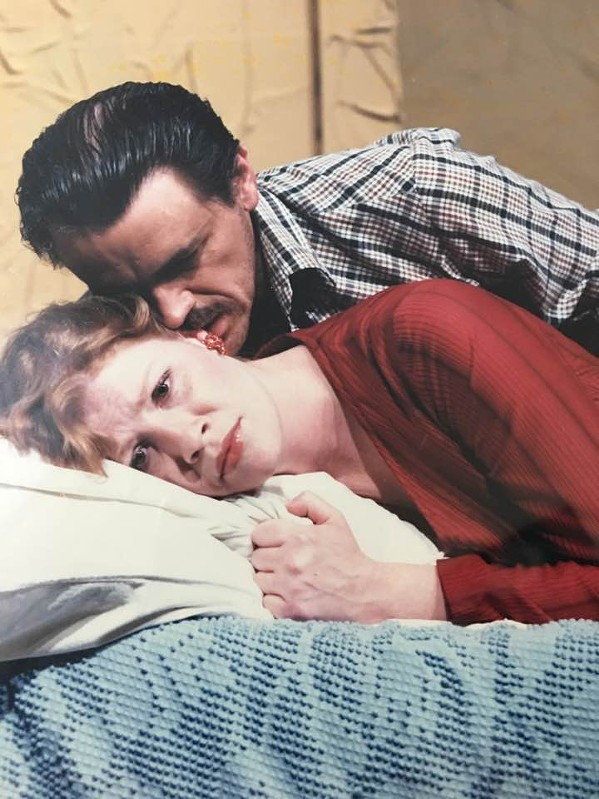 With Deborah Harrison in Fool for Love.