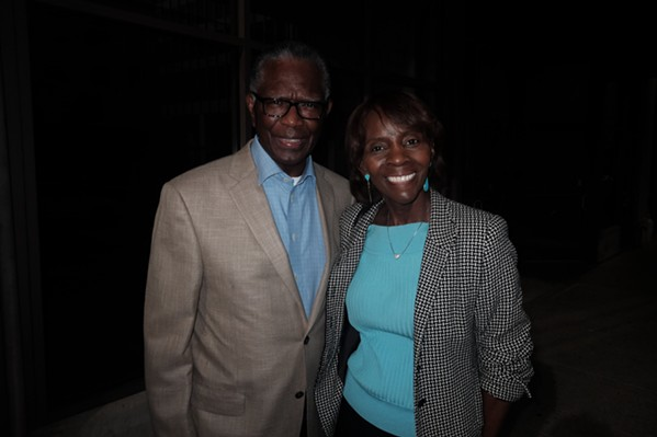 Ernie and Ethele Hilliard at Courage Through Cancer kickoff party at The Brass Door. - MICHAEL DONAHUE