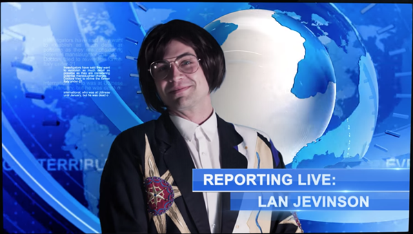 Reporting live, baby!