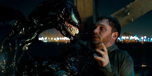 Tom Hardy (right) in Venom