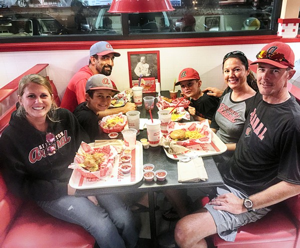 Seen at Freddy's  Frozen Custard & Steakburgers: Shawn Tillman, Felicia Tillman, Jamie Tillman, Jennifer Lantrip and Jacob Lantrip. - MICHAEL DONAHUE