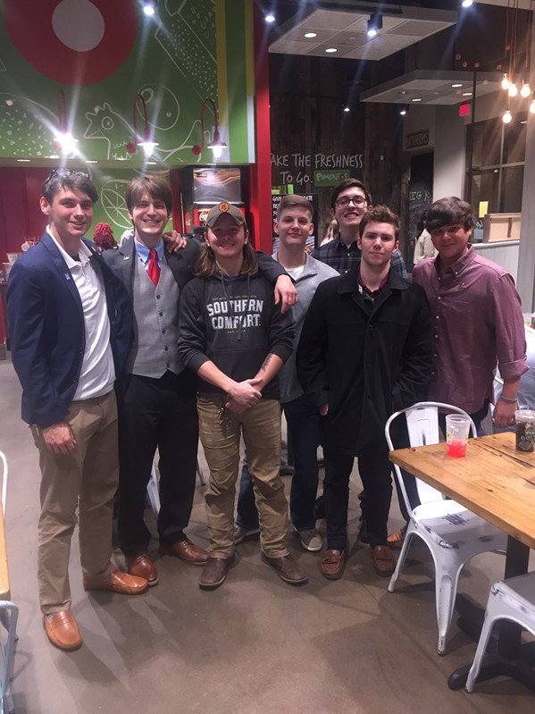 "Members of Kappa Sigma fraternity from University of Memphis held its ""Autumn Leaves"" fundraiser for St. Jude's Up Till Dawn. - MICHAEL DONAHUE"