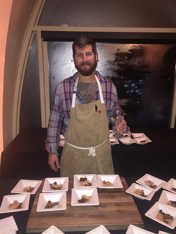 Cole Ellis at Wine & Dine. - MICHAEL DONAHUE