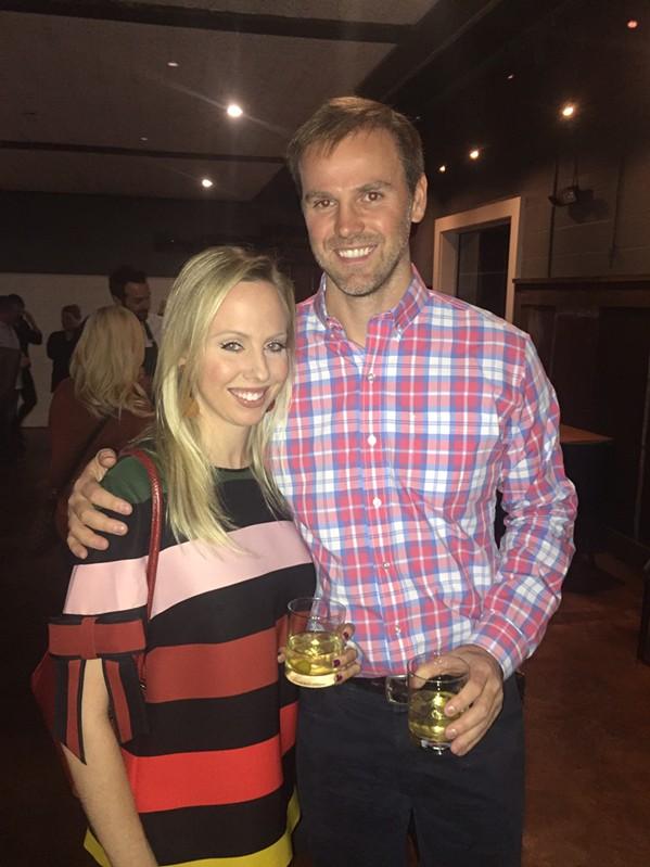Carol Ann Jordan and Daniel Szymanek at Gallery 7 dinner. - MICHAEL DONAHUE