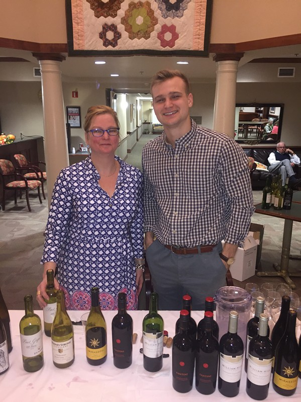 Elizabeth Mall and Trace Austin at Ave Maria Home's annual Wine Tasting and Art Show, - MICHAEL DONAHUE