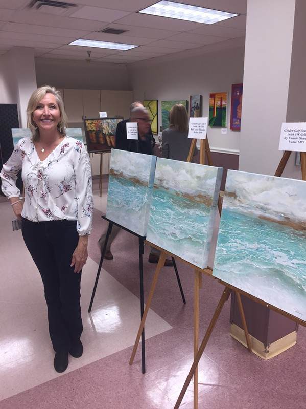 Connie Dismukes at  Ave Maria Home's annual Wine Tasting and Art Show, - MICHAEL DONAHUE