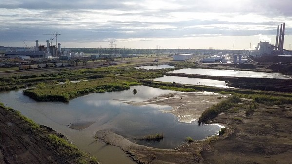 A coal ash pond at TVA's Allen Fossil Plant.