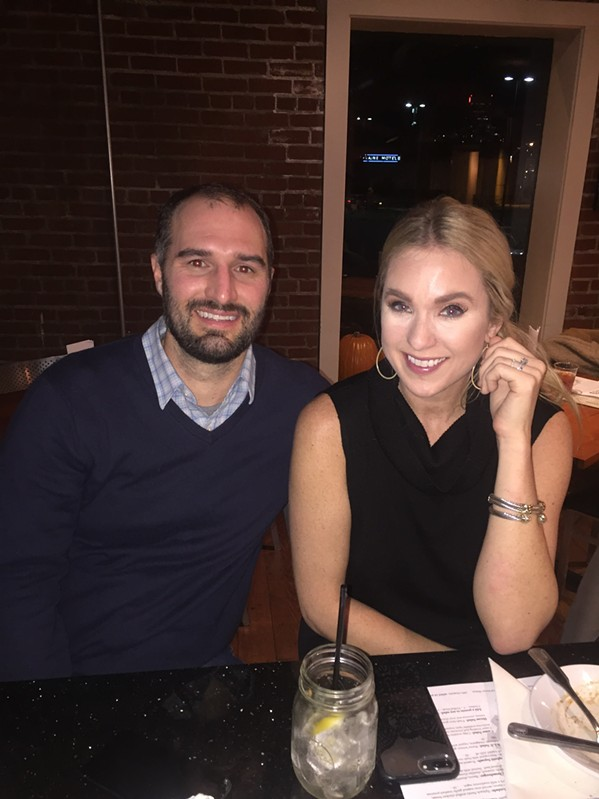 Marq and Brittany Cobb were among the guests at The Vault Influencer Dinner, which featured cuisine from executive chef Aaron Winters. - MICHAEL DONAHUE