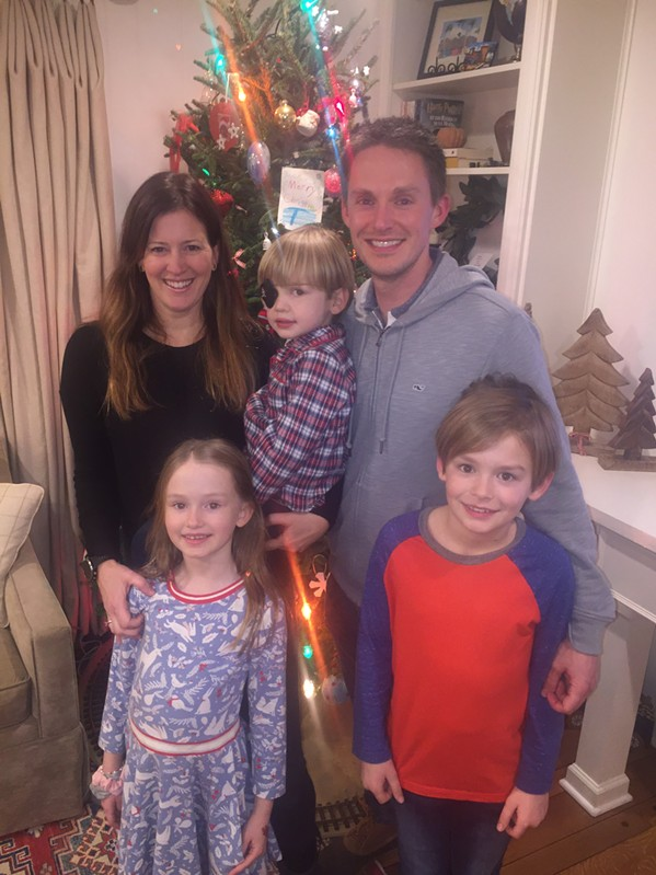 Lee, Audrey, Ethan, Josh and Christian Stewart were at the Williams' New Year's Eve gathering. - MICHAEL DONAHUE