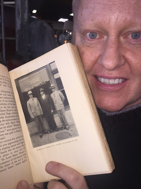 """Chuck Guthrie with his 1934 copy of """"Beale Street - Where the Blues Began."""" - MICHAEL DONAHUE"""