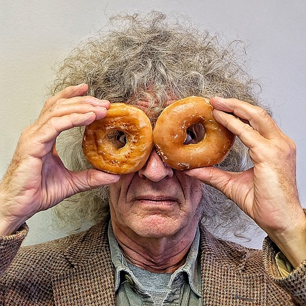 I didn't run in the Krispy Kreme Challenge, but I did hold two of the doughnuts over my eyes to make them look like glasses. - JON W. SPARKS