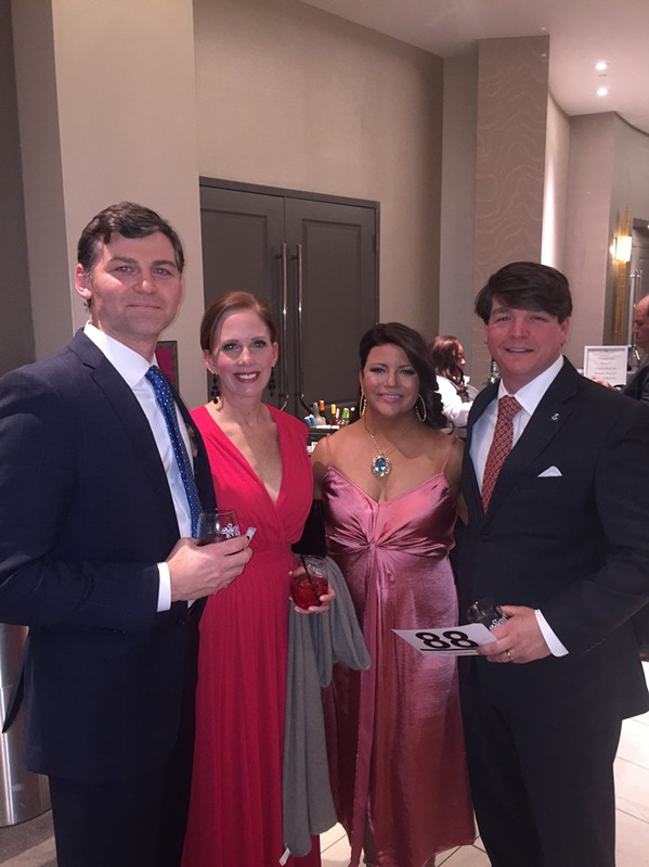David and Rachel Wall and Laura and Charles Hall were at the Page Robbins Gala. - MICHAEL DONAHUE