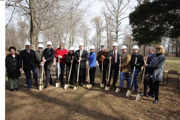 Breaking ground on the Reelfoot Lake interpretive visitor center in 2016. - MISSISSIPPI RIVER CORRIDOR TENNESSEE/FACEBOOK
