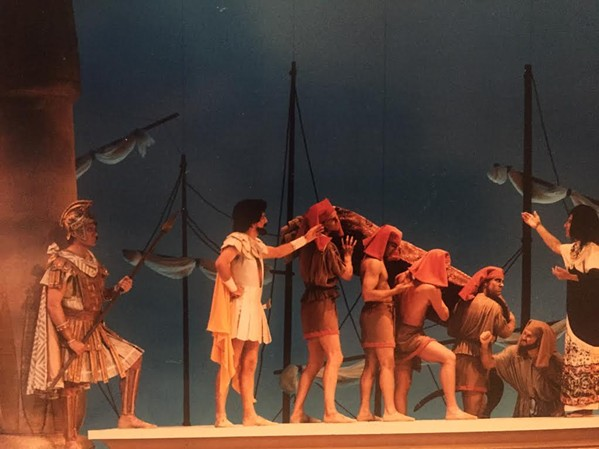 Theatre Memphis's 1980s-era production of Caesar & Cleopatra.