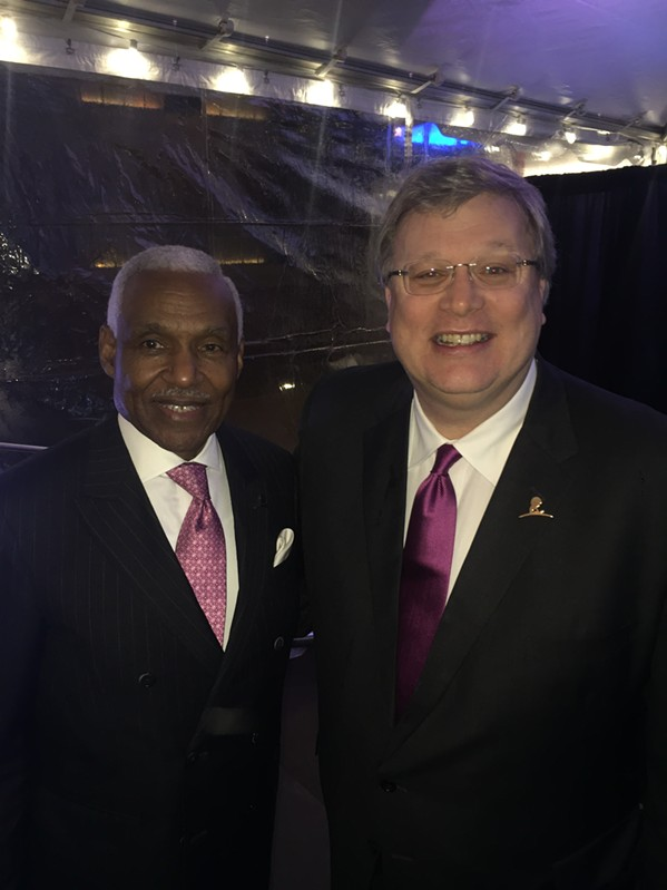 A C Wharton and Mayor Jim Strickland at St. Jude Spirit of the Dream. - MICHAEL DONAHUE