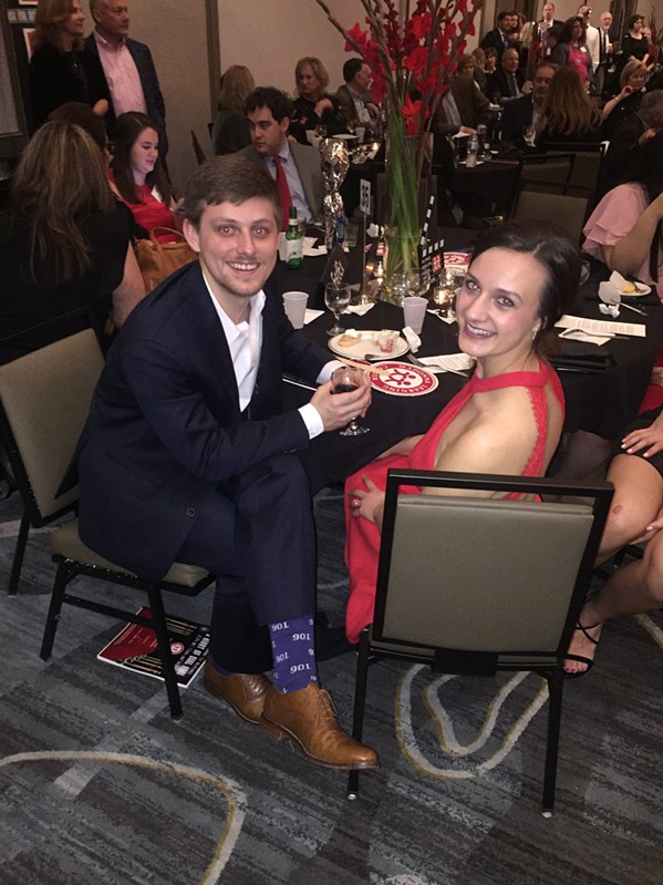 Zachary Clark and Anna Hunigan at Madonna Learning Center gala. - MICHAEL DONAHUE