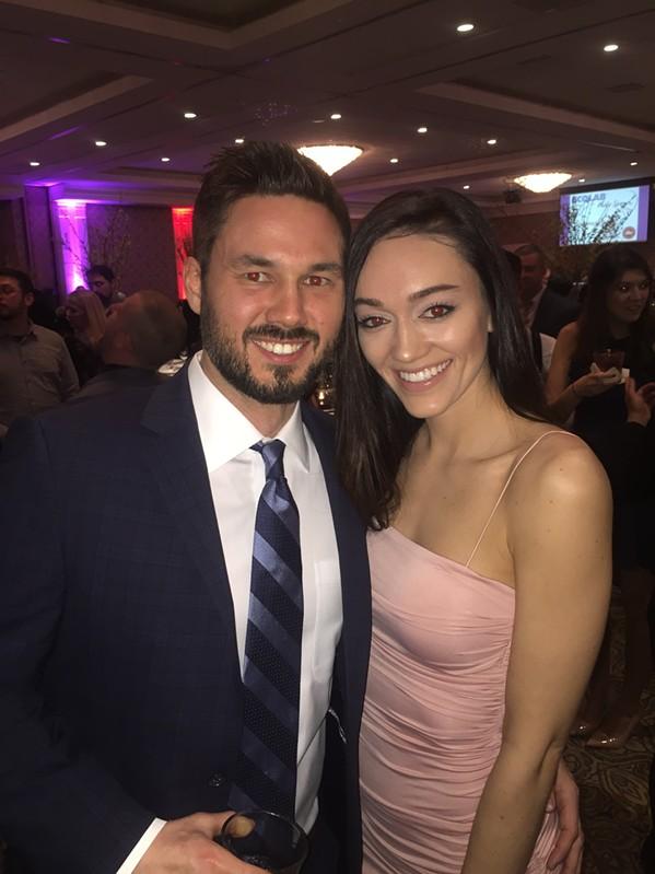 Taylor and Hannah Hemphill at Memphis Restaurant Association banquet. - MICHAEL DONAHUE