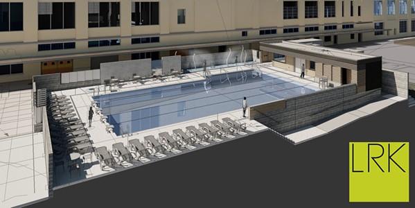 Rendering five-lane swimming pool - LRK