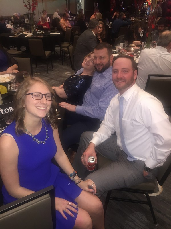 Katie Elliot, Jordan Bruce, Bill Frese, and Tricia Frese at Madonna Learning Center gala. - MICHAEL DONAHUE