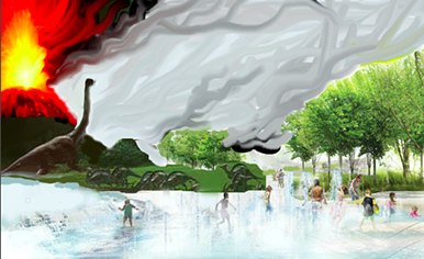 """""""Artistic"""" rendering of proposed changes to Tom Lee Park."""