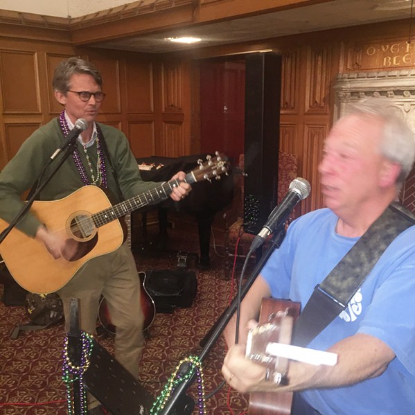 "Scot Walters and Llloyd ""Hurricane"" Munn performed at the Krewe of Calvary Gumbo Cookoff. - MICHAEL DONAHUE"