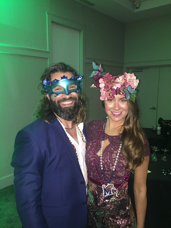 Nick Seccombe and Stephanie Beliles at Military Masquerade - MICHAEL DONAHUE