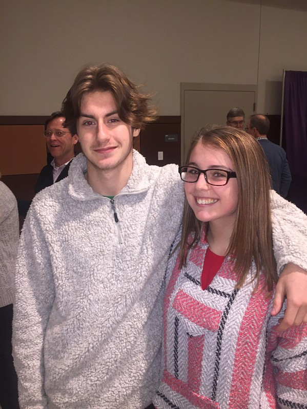 Harrison Daniels and Gabby Brenner were at A Taste of CBHS. - MICHAEL DONAHUE