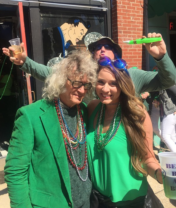 I ran into a lot of old friends, including Anna Condon, at the Silky Sullivan St. Patrick's Day Celebration - MICHAEL DONAHUE