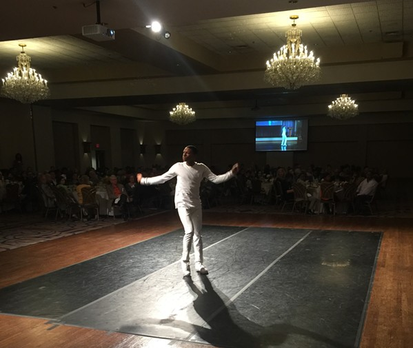"Jeremy Bowers performed ""The Swan"" at the New Ballet Ensemble & School luncheon. - MICHAEL DONAHUE"