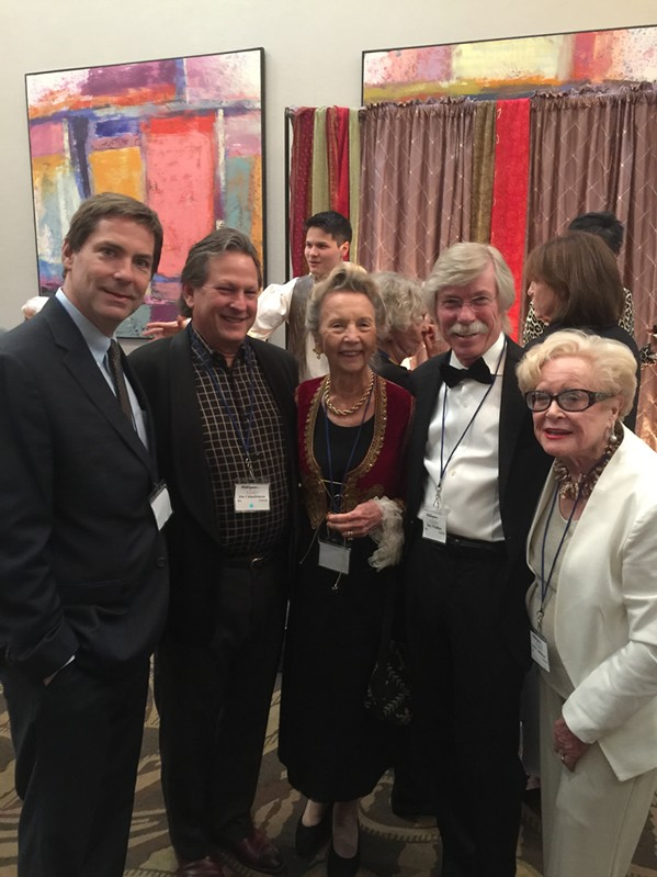 Huger Foote, Dr. James Calandruccio, Nancy Copp, Ray Walther and Kitty Lammons at the Tennessee Shakespeare Company gala. - MICHAEL DONAHUE