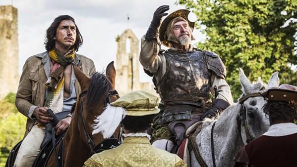 Adam Driver and José Luis Ferrar in The Man Who Killed Don Quixote