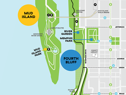 Kayak and paddle board rentals will be available at the River Garden Park near Mud Island. - MRPP