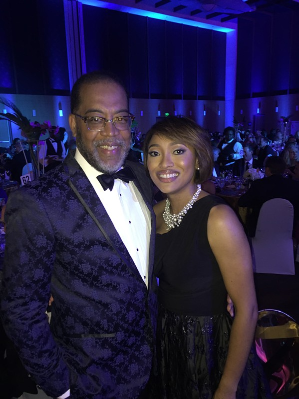 Dr. Reginald Coopwood, president and CEO of Regional One Health, and his wife, Erica, at the One Night Gala. - MICHAEL DONAHUE