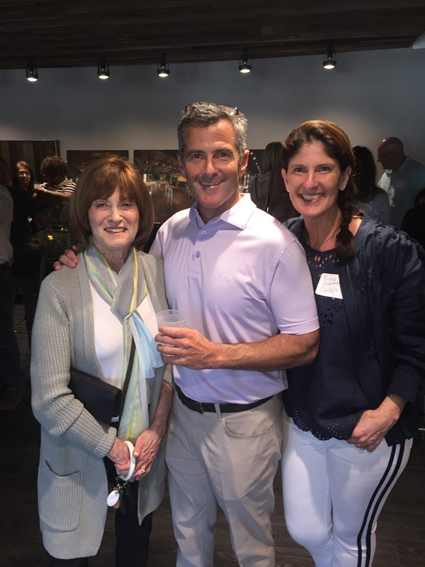 Linda Pelts, Barry Pelts, and Tricia Pelts Woodman at Venue 901 opening. - MICHAEL DONAHUE