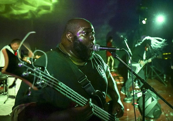 Omar Higgins plays with Negro Terror at the 2019 Black Lodge Halloween Ritual - COURTESY CHRISTOPHER REYES
