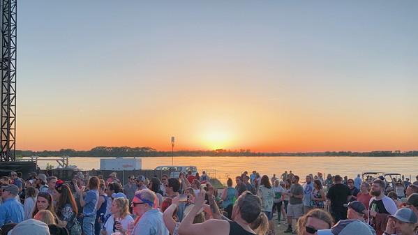 Sunset over Tom Lee Park - CHRIS MCCOY