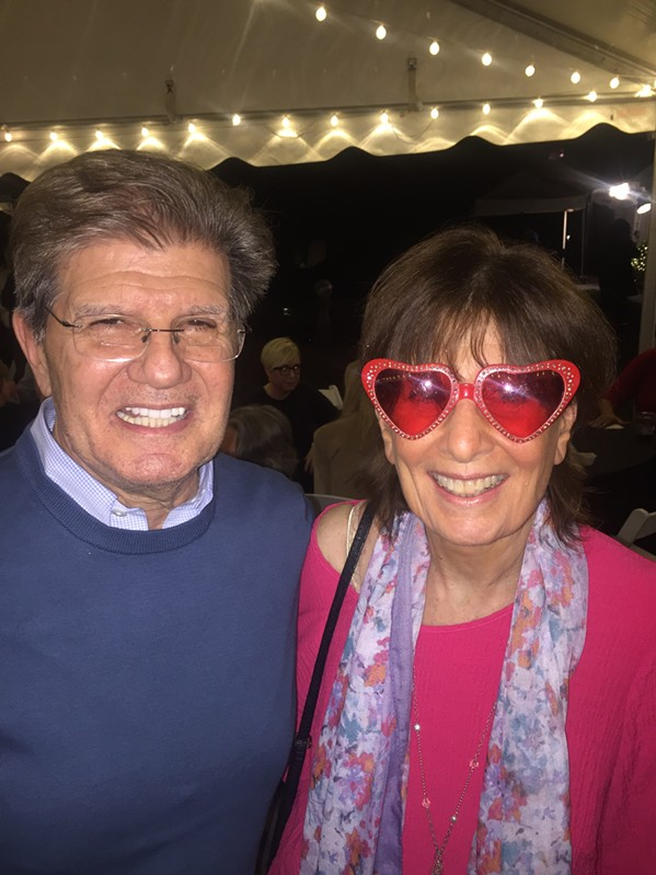 Basil Hero and Nancy Hart at the WMC reunion. - MICHAEL DONAHUE