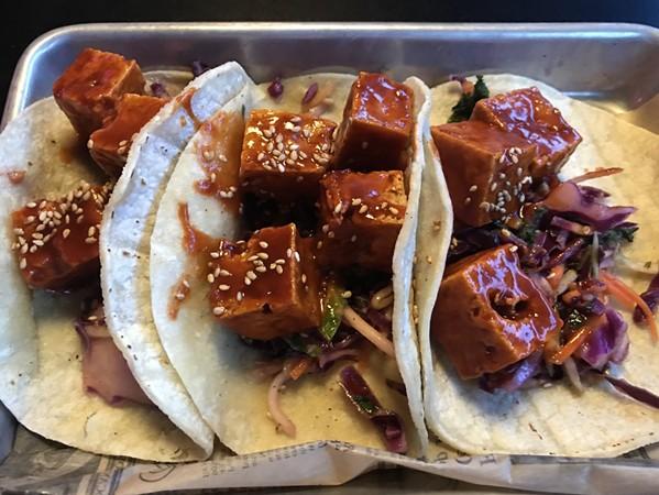 Korean BBQ Tofu tacos - JENNIFER PARSLEY