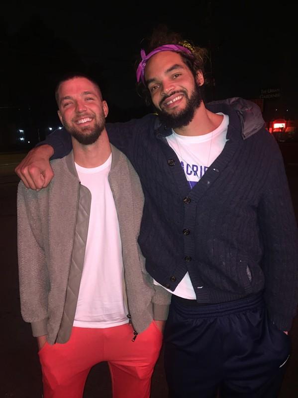 Chandler Parsons and Joakim Noah hanging at Gibson's Donuts. - MICHAEL DONAHUE