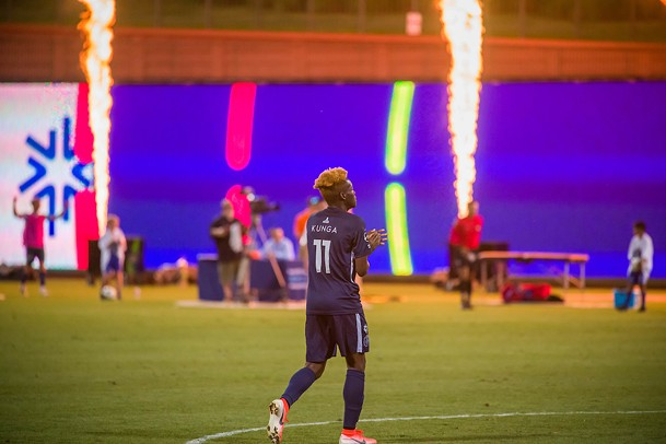 Lagos Kunga celebrates scoring his first 901 FC goal - 901 FC