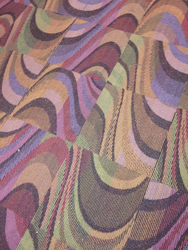 A detail of the new carpet. - MICHAEL DONAHUE