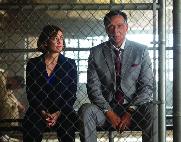 Going straight — Caitlin McGee (left) and Jimmy Smits play father-daughter attorney duo at the Strait Law Firm. - JAKE GILES NETTER/NBC