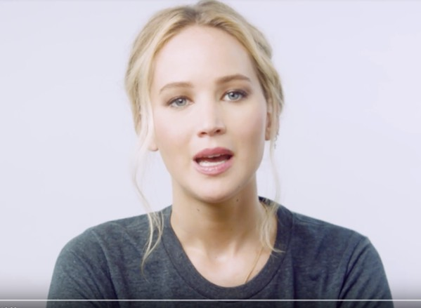 Actor Jennifer Lawrence in a 2018 ad in support of ranked choice voting in Tennessee.
